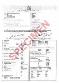 Certificat de Conformité Citroën Gratuit