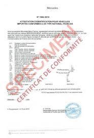 My certif :  Certificat de conformité Européen