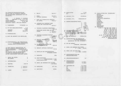 Certificat de conformité Mitsubishi